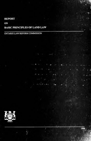 Report on basic principles of land law