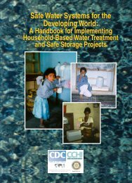 Safe Water Systems for the Developing World - Centers for Disease ...