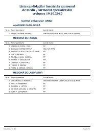 Lista candidaților înscriși la examenul de medic / farmacist ...