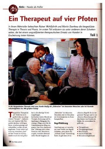 Therapeut auf vier Pfoten - Tiere begleiten Leben Schweiz