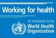 An introduction to the - World Health Organization
