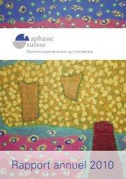 Rapport annuel 2010 - Aphasie Suisse