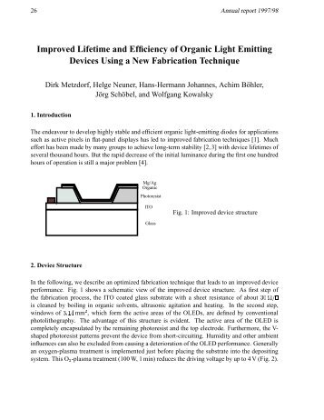 Improved Lifetime and Efficiency of Organic Light Emitting Devices ...