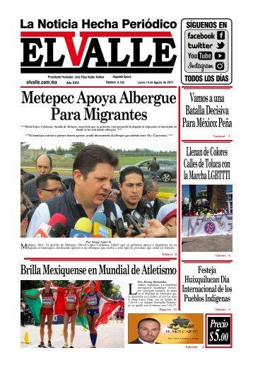 Edición del día Lunes 14 de Agosto