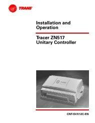 Binary inputs for 2-heat/2-cool applications - Trane