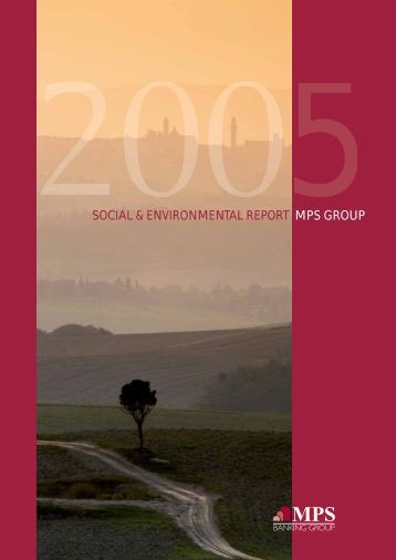 social & environmental report mps group - Monte dei Paschi di ...