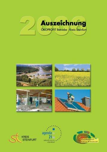 ÖKOPROFIT Abschlussbroschüre 2006 - Agenda 21 - Kreis Steinfurt
