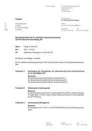 Beschlussprotokoll - AFG Arbonia-Forster-Holding AG