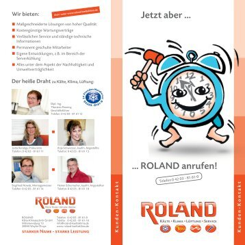 pdf 950 kb - ROLAND Kälte Klima Fachbetrieb