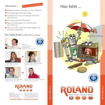 pdf 830 kb - ROLAND Kälte Klima Fachbetrieb