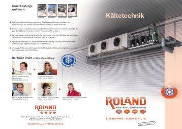 Kältetechnik 4 Seiten a4 - ROLAND Kälte Klima Fachbetrieb