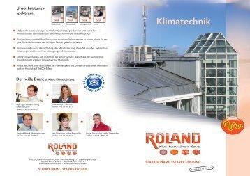 Klimatechnik 4 Seiten a4 - ROLAND Kälte Klima Fachbetrieb