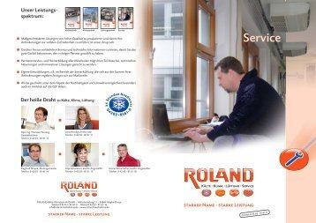 Service 4 Seiten a4 - ROLAND Kälte Klima Fachbetrieb