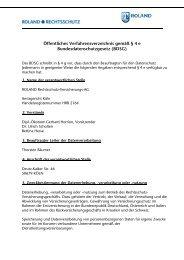 Öffentliches Verfahrensverzeichnis ROLAND Rechtsschutz