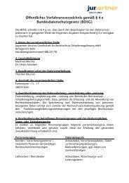 Öffentliches Verfahrensverzeichnis gemäß § 4 e - ROLAND ...