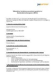 Öffentliches Verfahrensverzeichnis Jurpartner Rechtsschutz