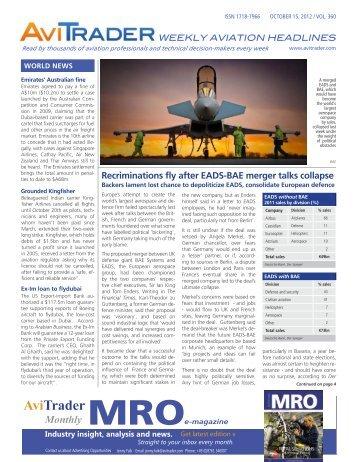 AviTrader_Weekly_Headline_News_2012-10-15