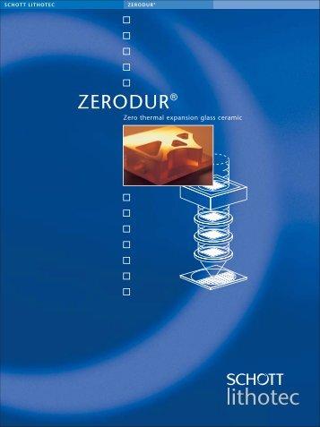 ZERODUR® - Mark Optics Inc.