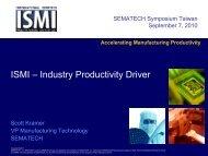 Operations Councils - ISMI - Sematech