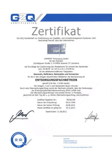 'Zertifikat