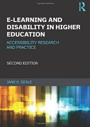 E-learning and Disability in Higher Education