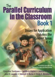 The Parallel Curriculum in the Classroom, Book 1: Essays for Application Across the Content Areas, K-12