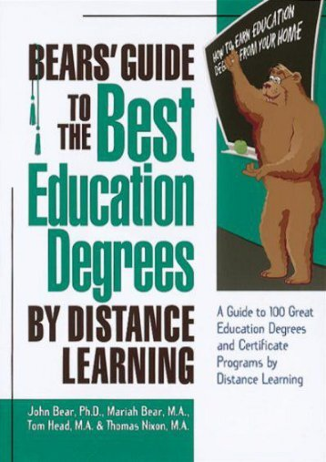 Bears  Guide to the Best Education Degrees by Distance Learning