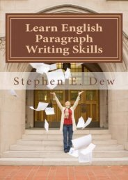 Learn English Paragraph Writing Skills: ESL Paragraph Essentials for International Students: Volume 1 (Academic Writing Skills)