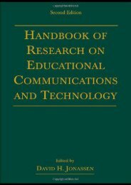 Handbook of Research for Educational Communications and Technology: A Project of the Association for Educational Communications and Technology