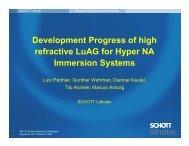 Development Progress of high refractive LuAG for Hyper ... - Sematech