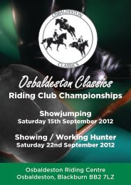 Osbaldeston Classics - Osbaldeston Riding Centre