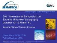 2011 International Symposium on Extreme Ultraviolet Lithography ...