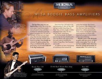 Mesa Catalog-for American Litho - Mesa Boogie