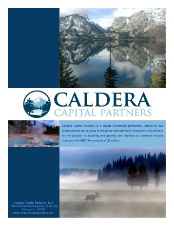 CCP Brochure 10.06.08 - Caldera Capital Partners
