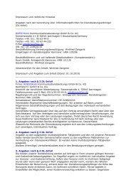 Impressum und rechtliche Hinweise Angaben nach der ... - Roeschlau