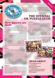 THE OFFICIAL UK PUZZLE CLUB How jigsaws ... - Jigsaw Puzzles