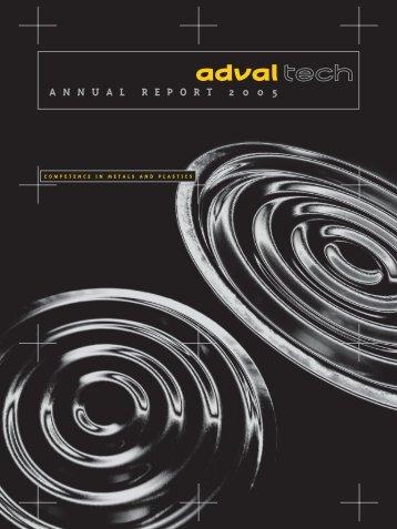 A N N U A L R E P O R T 2 0 0 5 - AdvalTech