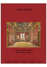 Arader Galleries Rare Book Fall-Winter Catalog.qxd