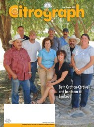 Beth Grafton-Cardwell and her team at Lindcove - Citrus Research ...