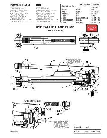 HYDRAULIC HAND PUMP - OTC