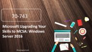 Examgood 70-743 MCSA Windows Server 2016 exam questions