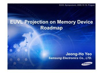 EUVL Projection on Samsung's Device Roadmap - Sematech
