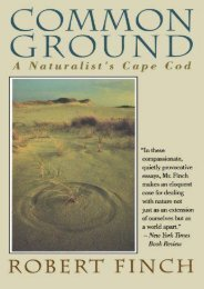 Common Ground: A Naturalist s Cape Cod