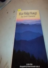 Blue Ridge Range: The Gentle Mountains