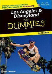 Los Angeles   Disneyland For Dummies (Dummies Travel)