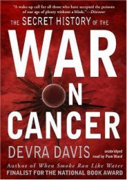 The Secret History of the War on Cancer (Library Edition)