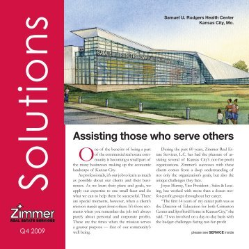 Assisting those who serve others - Zimmer Real Estate Services