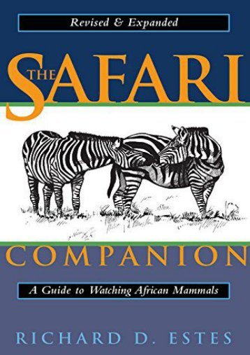 Best PDF The Safari Companion: A Guide to Watching African Mammals -  Populer ebook