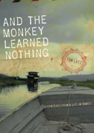 Best PDF And the Monkey Learned Nothing: Dispatches from a Life in Transit (Sightline Books) -  Online
