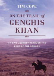 Best PDF On the Trail of Genghis Khan: An Epic Journey Through the Land of the Nomads -  Online